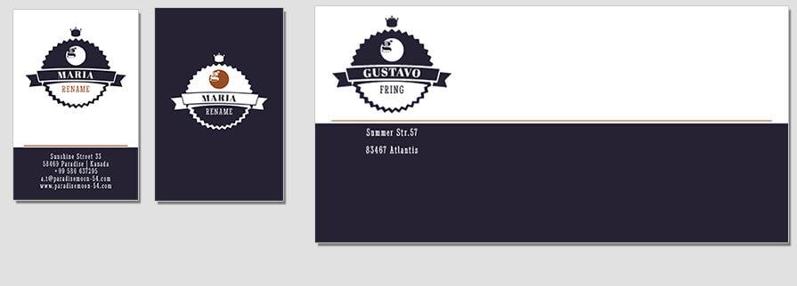 Ci Set 049 Envelope Bcard Corporate Identity Geschäftsausstattung Paket Pop Art Individual Art Selbst Vermarktung Start Up
