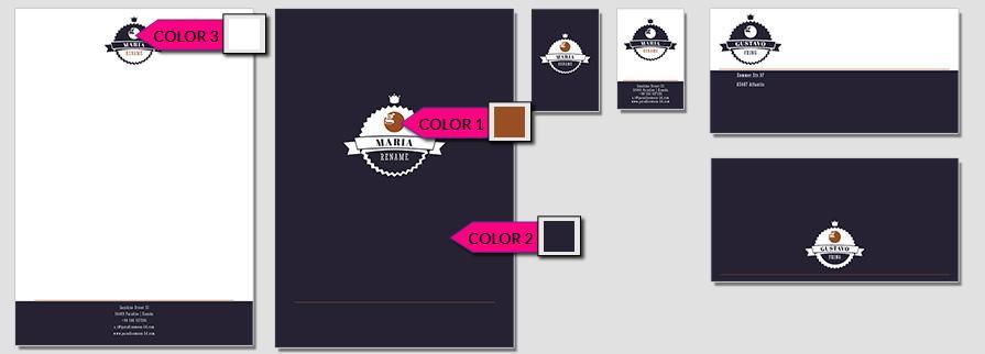 Ci Set 049 Color Corporate Identity Geschäftsausstattung Paket Pop Art Individual Art Selbst Vermarktung Start Up