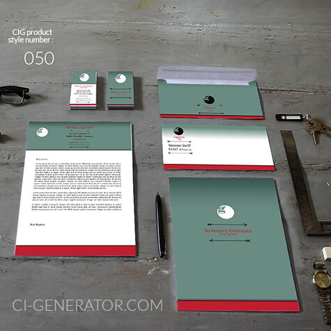 corporate identity 050www.ci-generator.com design start up CI set for any business