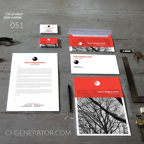 Corporate Identity 051 Www.ci-generator.com Design Start Up CI Set For Any Business
