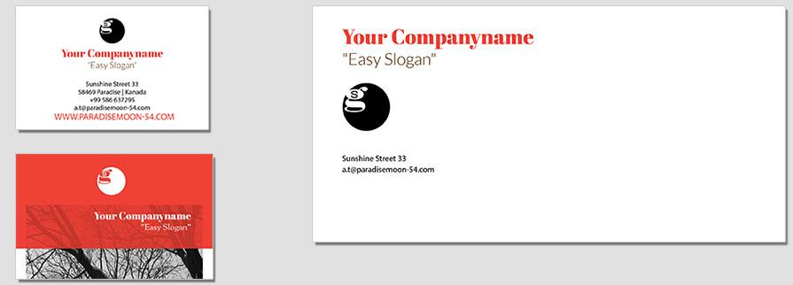 Ci Set 051 Envelope Bcard Corporate Design Agency Shop Templates  Bradning Marketing Entrepreneur