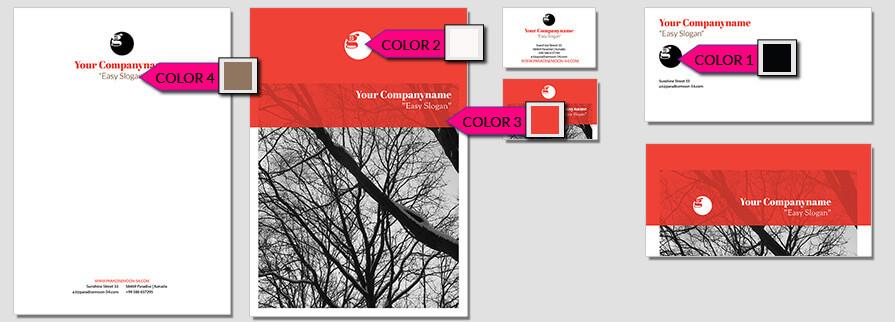 Ci Set 051 Color Corporate Design Agency Shop Templates  Bradning Marketing Entrepreneur
