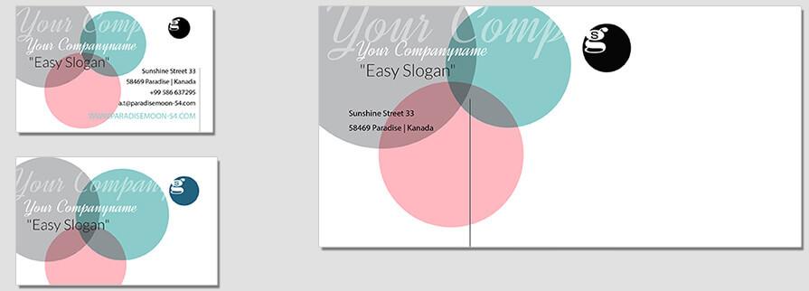 Ci Set 052 Envelope Bcard Corporate Design Agency Shop Templates  Bradning Marketing Entrepreneur