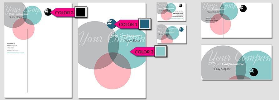 Ci Set 052 Color Corporate Design Agency Shop Templates  Bradning Marketing Entrepreneur