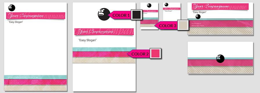 Ci Set 053 Color Corporate Design Agency Shop Templates  Bradning Marketing Entrepreneur