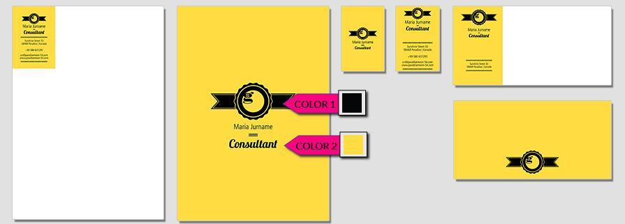 Ci Set 055 Color Corporate Design Agency Shop Templates Bradning Marketing Entrepreneur