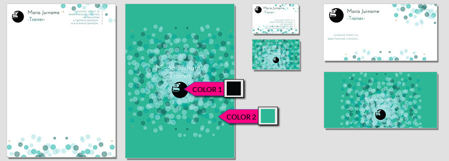 Ci Set 056 Color Description Brand Identity Günstig Drucken / Bestellen Start Up Design Paket