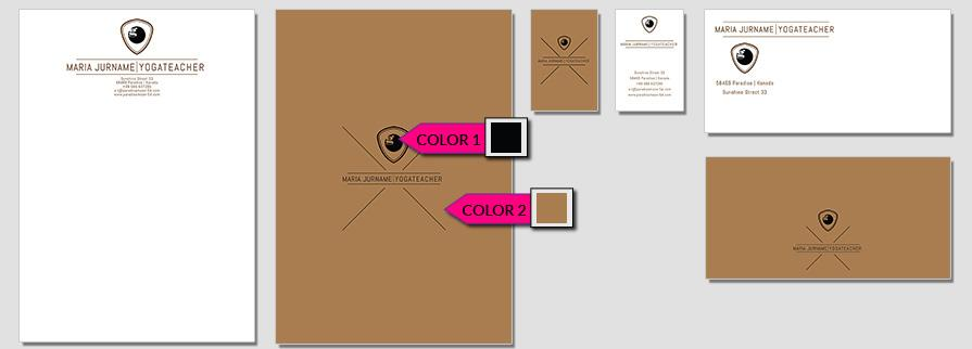 Ci Set 057 Color Brand Identity Günstig Drucken / Bestellen Start Up Design Paket