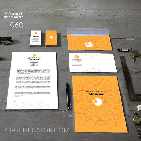 corporate identity 060 www.ci-generator.com design start up CI set for any business