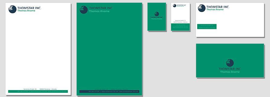 Ci Set 063 Flat Branding Brand Identity -  My Stationery New Branding