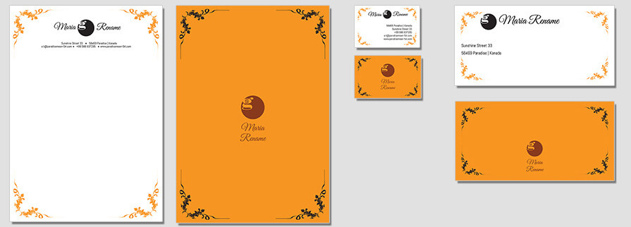 Ci Set 065 Flat Branding Brand Identity -  My Stationery New Branding