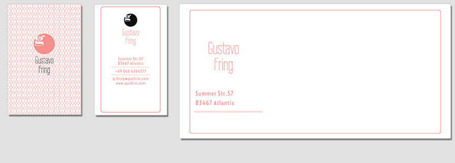 Ci Set 066 Envelope Bcard Corporate Identity Geschäftsausstattung Paket Pop Art Individual Art Selbst Vermarktung Start Up