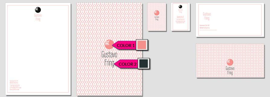 Ci Set 066 Color Corporate Identity Geschäftsausstattung Paket Pop Art Individual Art Selbst Vermarktung Start Up