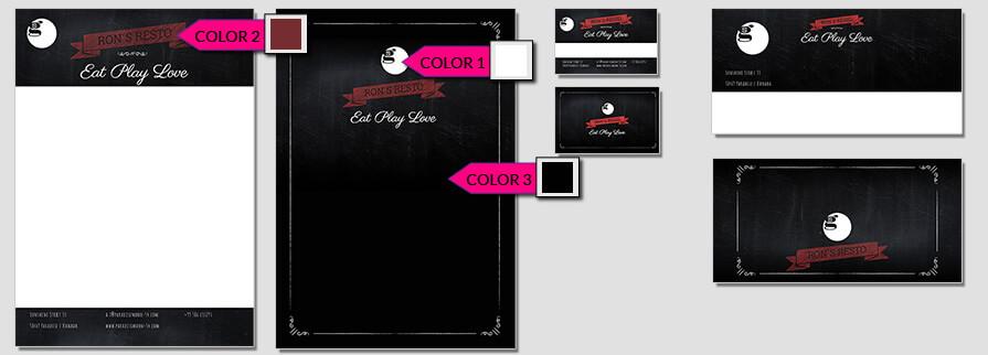 Ci Set 070 Color Firmen Corporate Identity Geschäftsausstattung Word Writer Powerpoint Impress