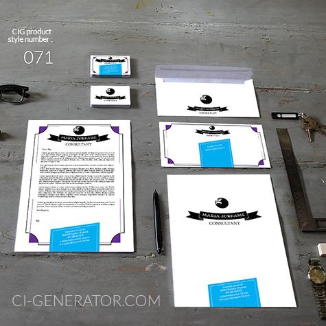 Corporate Identity 071 Www.ci-generator.com Design Start Up CI Set For Any Business