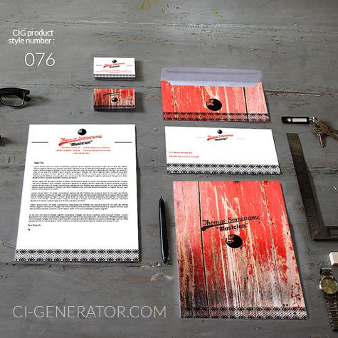 Corporate Identity 076 Www.ci-generator.com Design Start Up CI Set For Any Business
