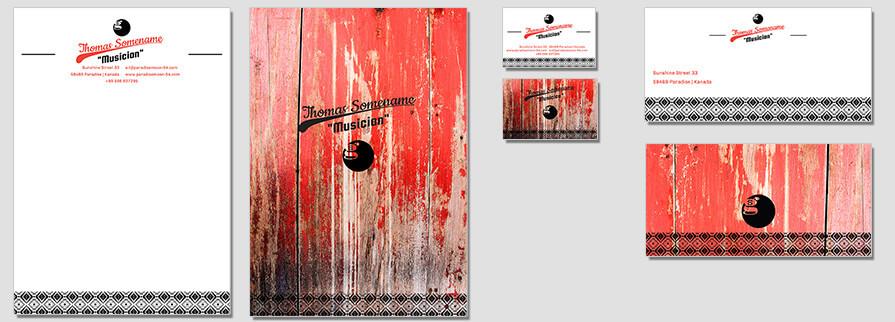Ci Set 076 Flat Corporate Identity Geschäftsausstattung Paket Marketing Tools Logo Design