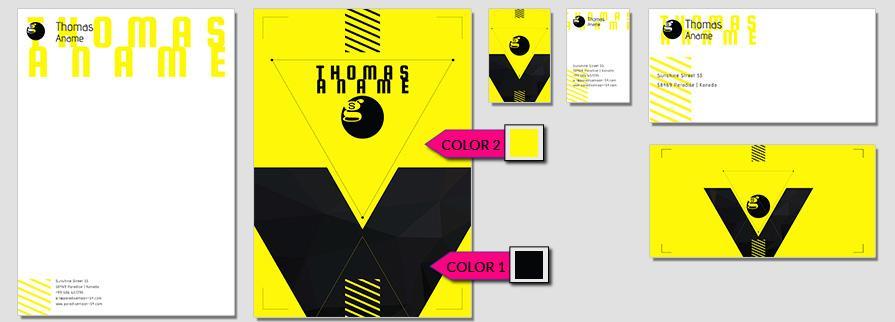 Ci Set 078 Color Corporate Identity Geschäftsausstattung Paket Marketing Tools Logo Design