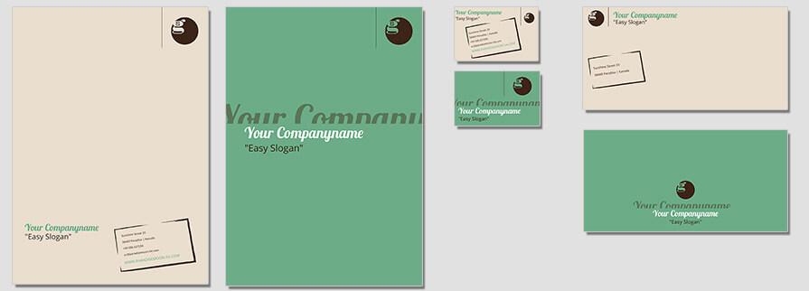 Ci Set 083 Flat Corporated Identity Stationery Package Branding Marketing Logo Design