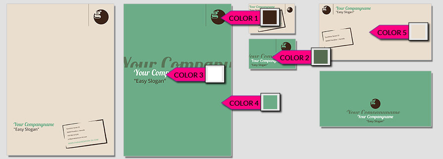 Ci Set 083 Color Corporated Identity Stationery Package Branding Marketing Logo Design