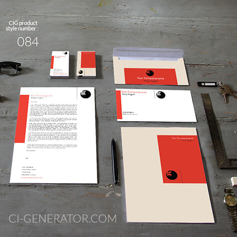 corporate identity 084 www.ci-generator.com design start up CI set for any business