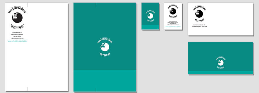 Ci Set 085 Flat Corporated Identity Stationery Package Branding Marketing Logo Design