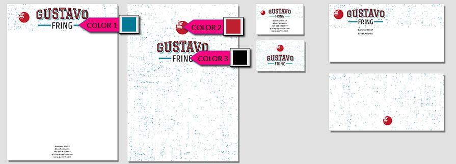 Ci Set 093 Color Company Corporate Identity Stationery Set Mock Up Layouts Design Service Pop Art Delaunay Dot