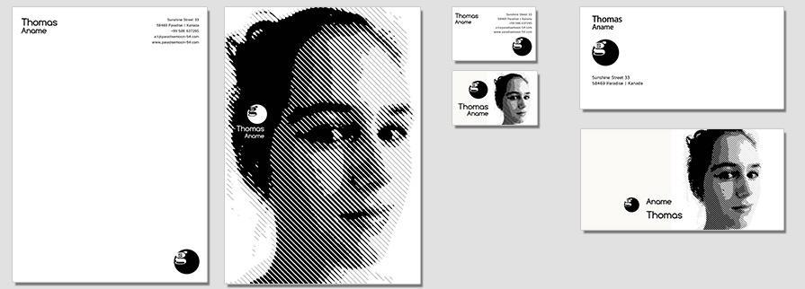 Ci Set 094 Flat Company Corporate Identity Stationery Set Mock Up Layouts Design Service Pop Art Delaunay Dot
