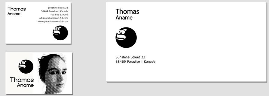 Ci Set 094 Envelope Bcard Company Corporate Identity Stationery Set Mock Up Layouts Design Service Pop Art Delaunay Dot