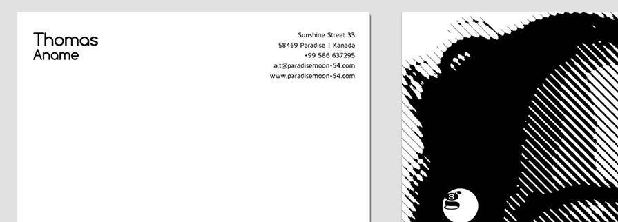 Ci Set 094 Letterhead B Company Corporate Identity Stationery Set Mock Up Layouts Design Service Pop Art Delaunay Dot
