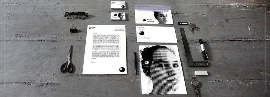Ci Set 094 Overview Company Corporate Identity Stationery Set Mock Up Layouts Design Service Pop Art Delaunay Dot