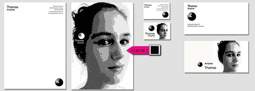 Ci Set 094 Color Company Corporate Identity Stationery Set Mock Up Layouts Design Service Pop Art Delaunay Dot