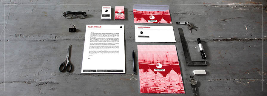 Ci Set 097 Corporated Identity Stationery Package Pop Art Individual Art Self Branding Entrepreneur Hip Hipster