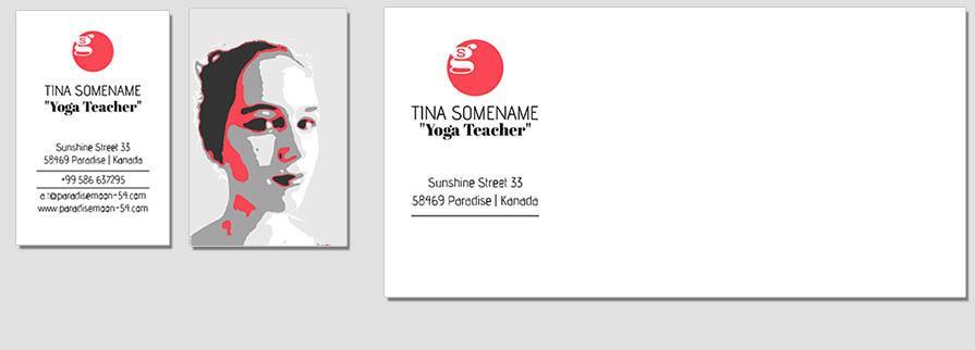 Ci Set 101 Bcard Corporated Identity Stationery Package Pop Art Individual Art Self Branding Entrepreneur Hip Hipster