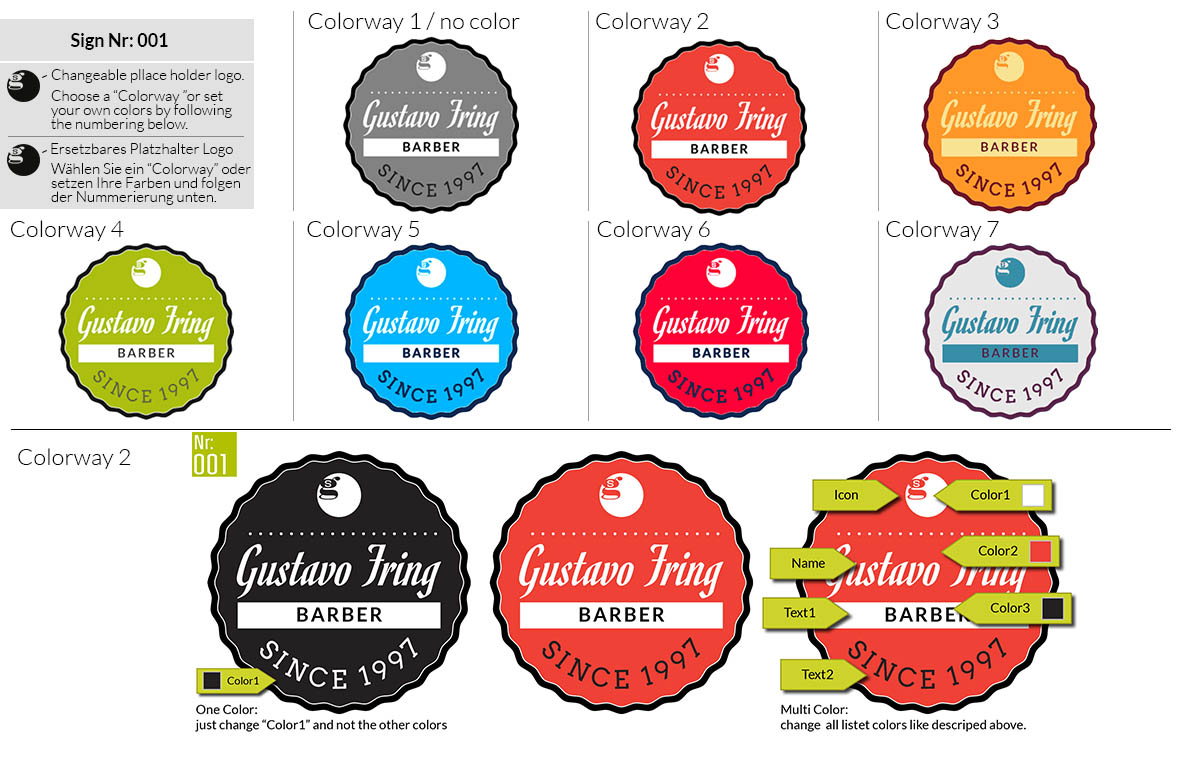 001 Make Look Branding Logo Smal Colorways 001