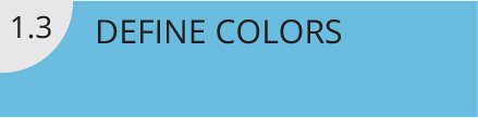 Define your Colors