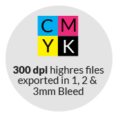 corporate design set stationery bleed cmyk be free en