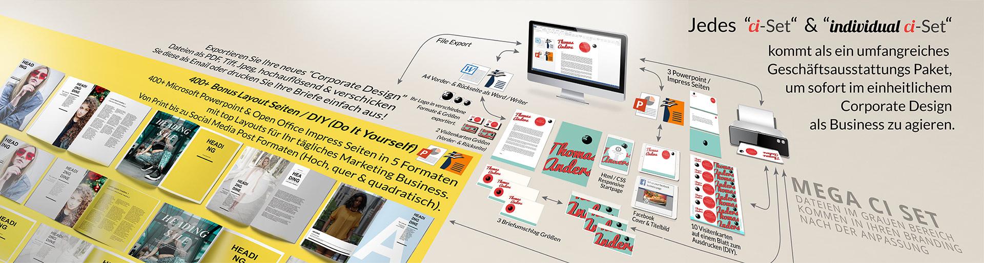 header ci set corporate design guenstig bezahlbar agentur grafik layout geschaeftsausstattung