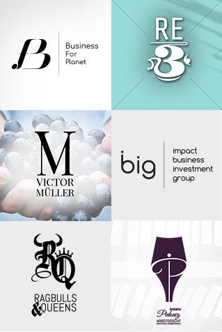 typo logo design ci generator corporate branding guenstig