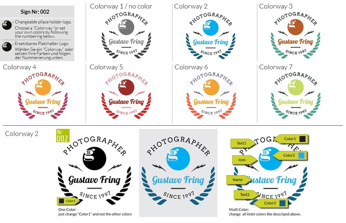 002 Make Look Branding Logo Smal Colorways 001