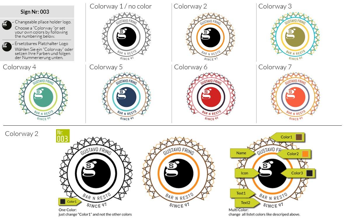 003 Make Look Branding Logo Smal Colorways 001