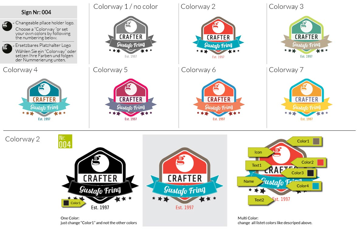 004 Make Look Branding Logo Smal Colorways 001