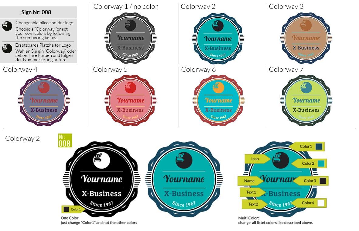 008 Make Look Branding Logo Smal Colorways 001