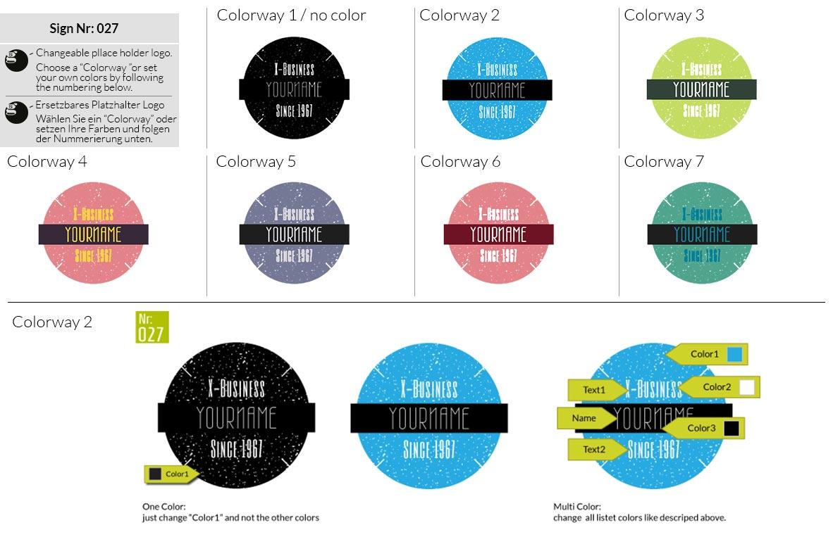 027 Make Look Branding Logo Smal Colorways 001