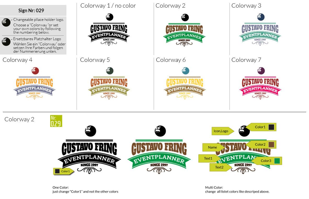029 Make Look Branding Logo Smal Colorways 001