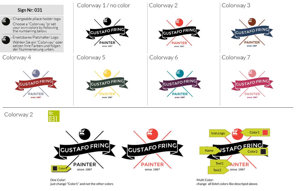 031 Make Look Branding Logo Smal Colorways 001