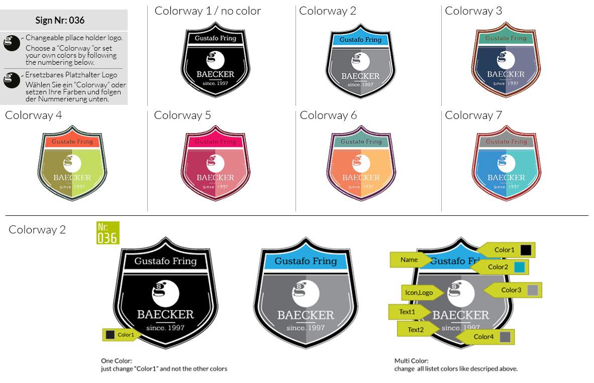 036 Make Look Branding Logo Smal Colorways 001