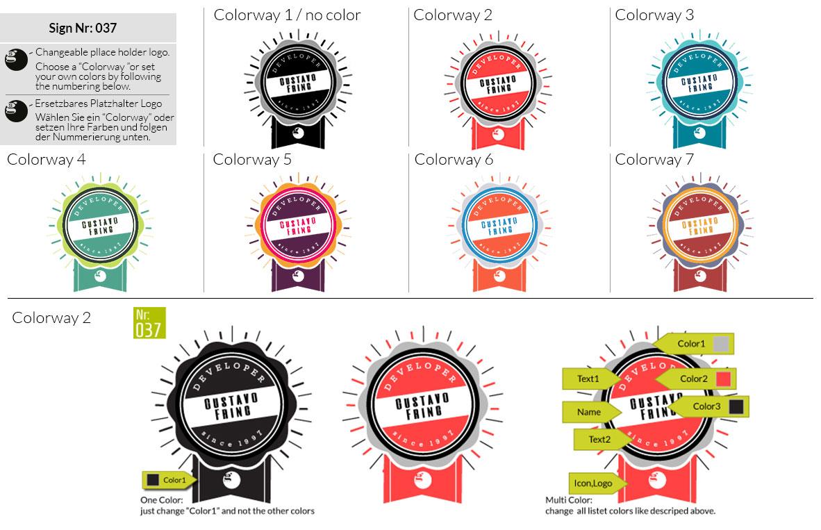 037 Make Look Branding Logo Smal Colorways 001