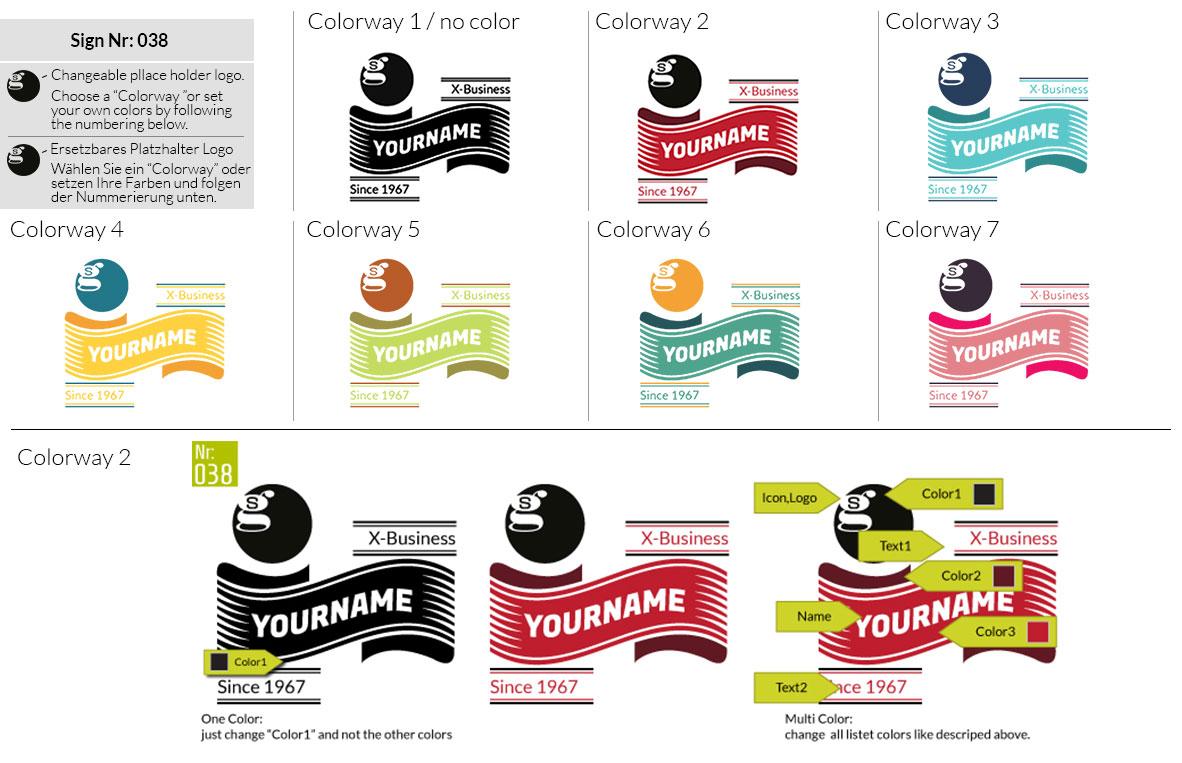 038 Make Look Branding Logo Smal Colorways 001