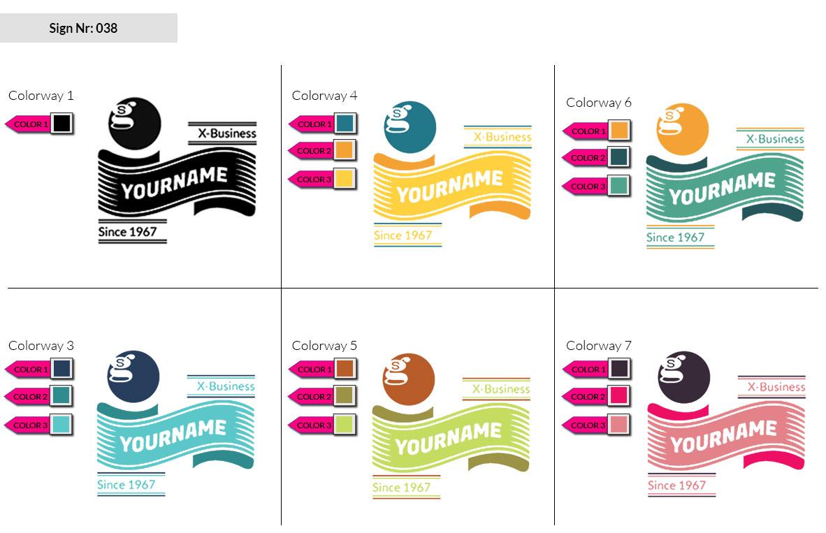 038 Make Look Branding Logo Smal Colorways 002